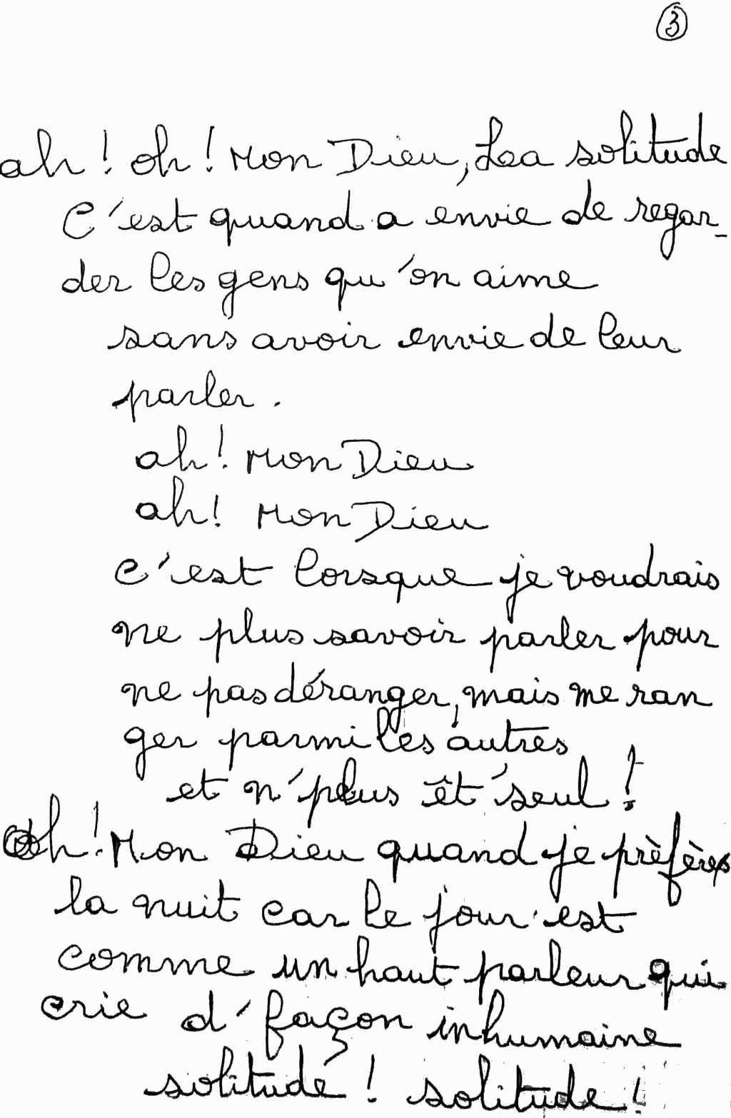 manuscrit du poème 2496
