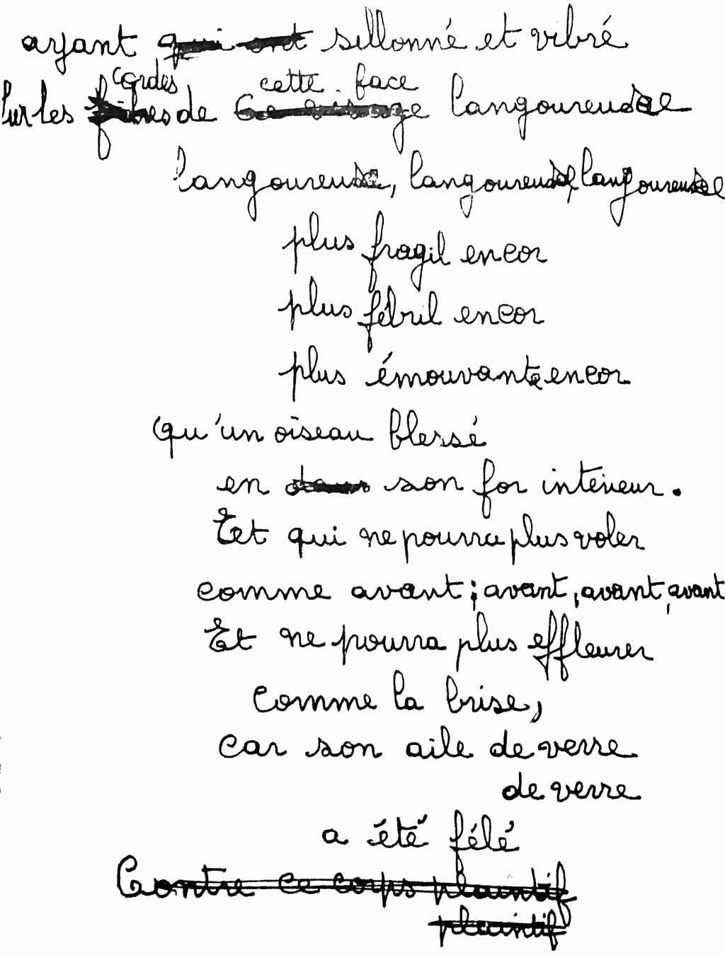manuscrit du poème 2510