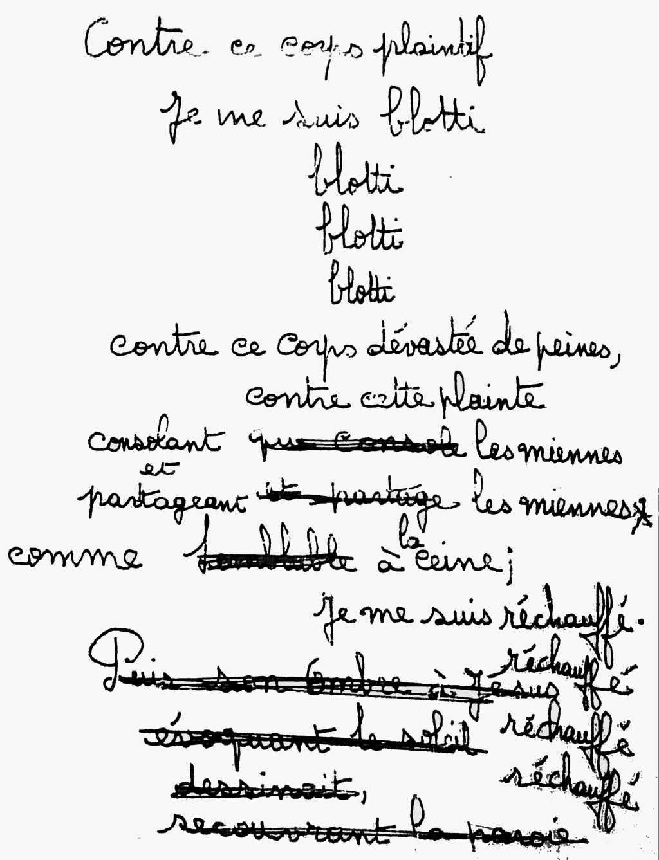 manuscrit du poème 2511