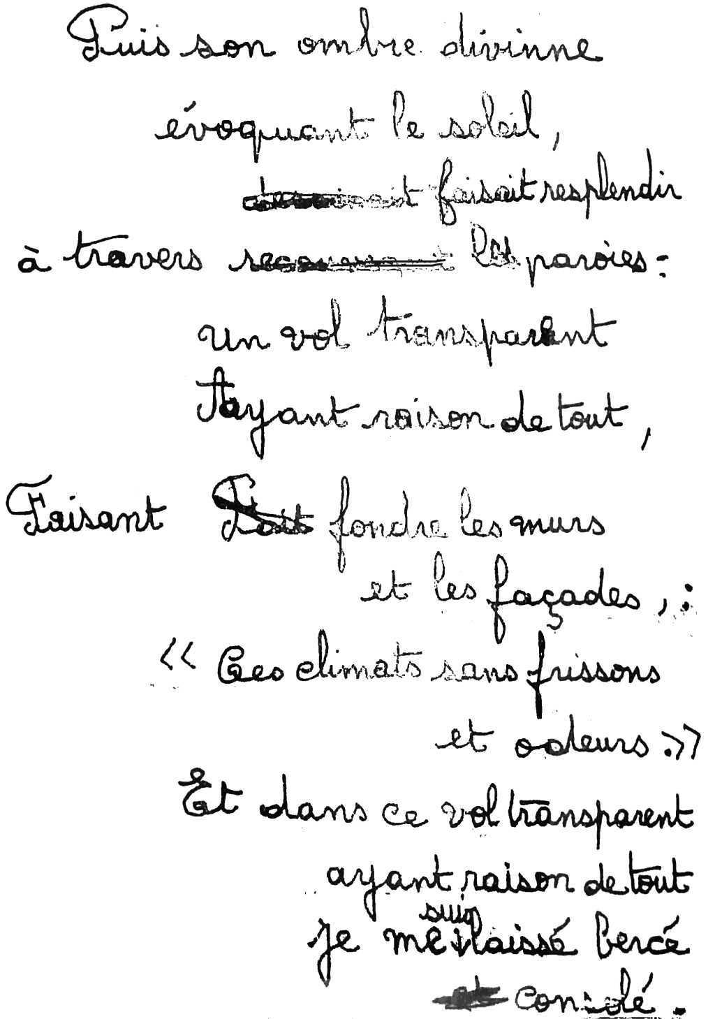 manuscrit du poème 2512