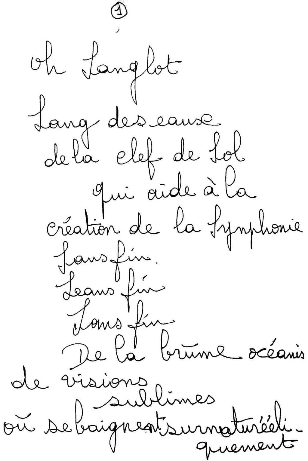 manuscrit du poème 2519