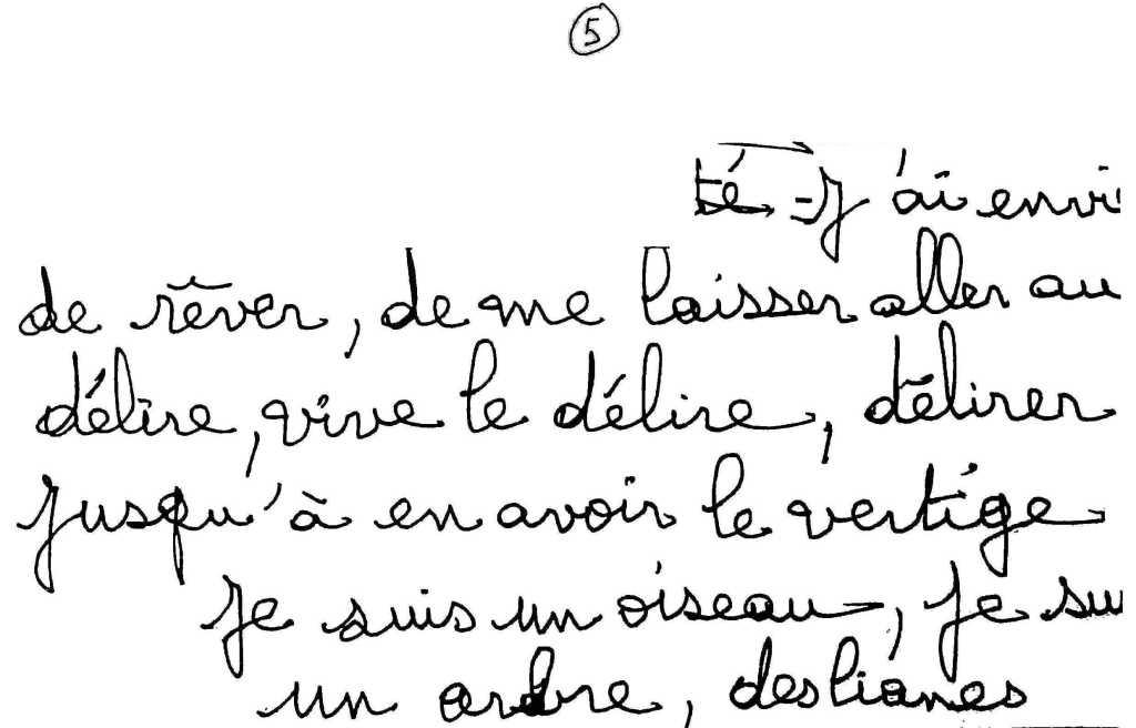 manuscrit du poème 2523