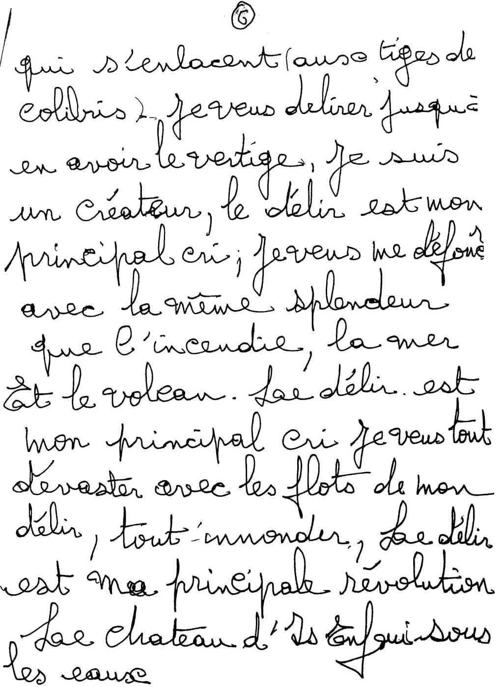 manuscrit du poème 2524