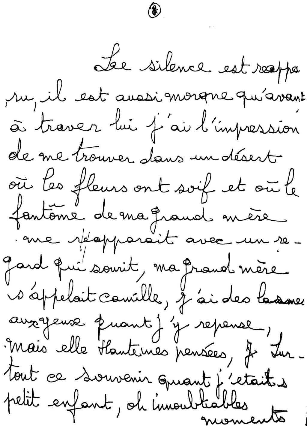 manuscrit du poème 2526