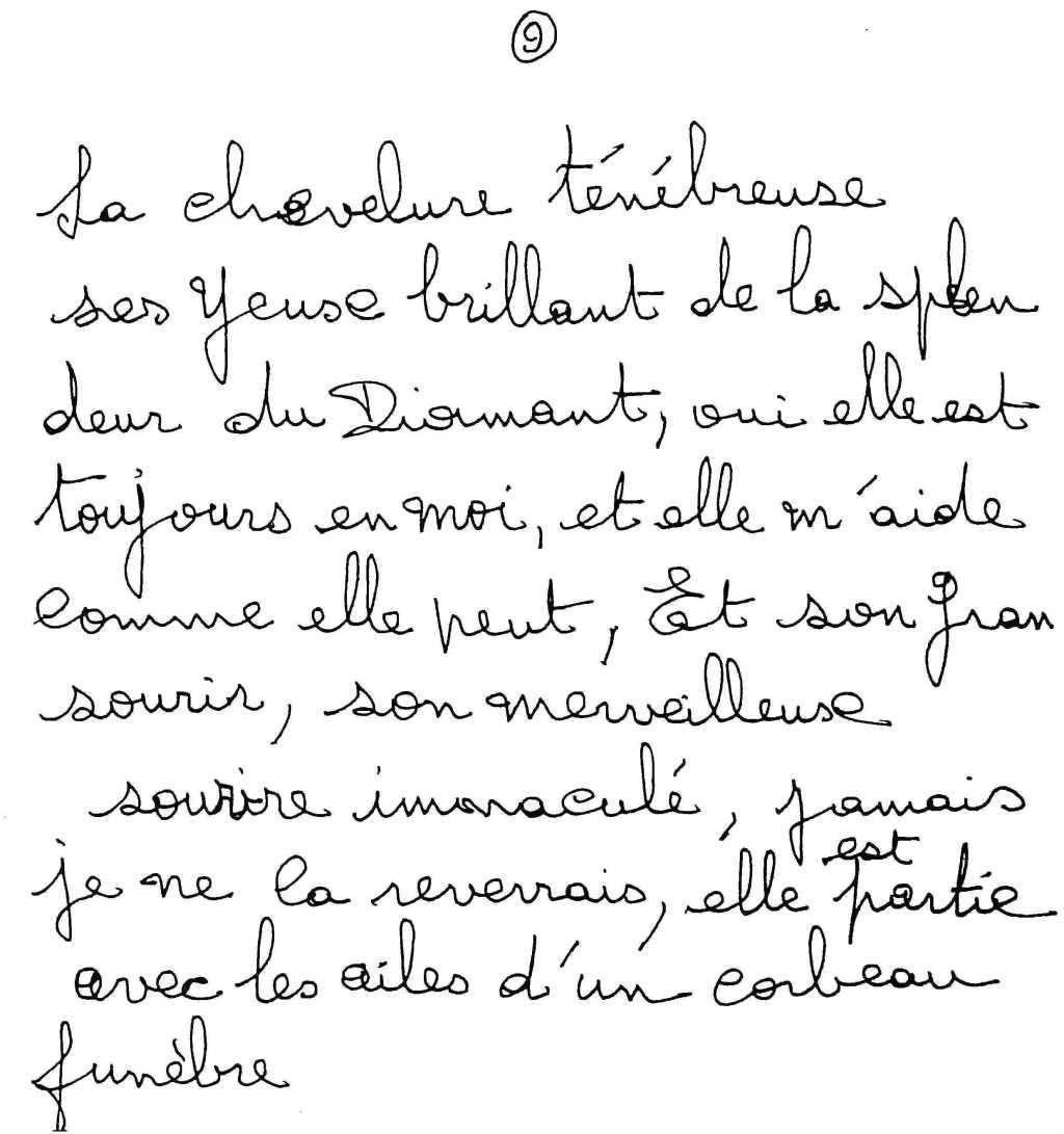 manuscrit du poème 2527