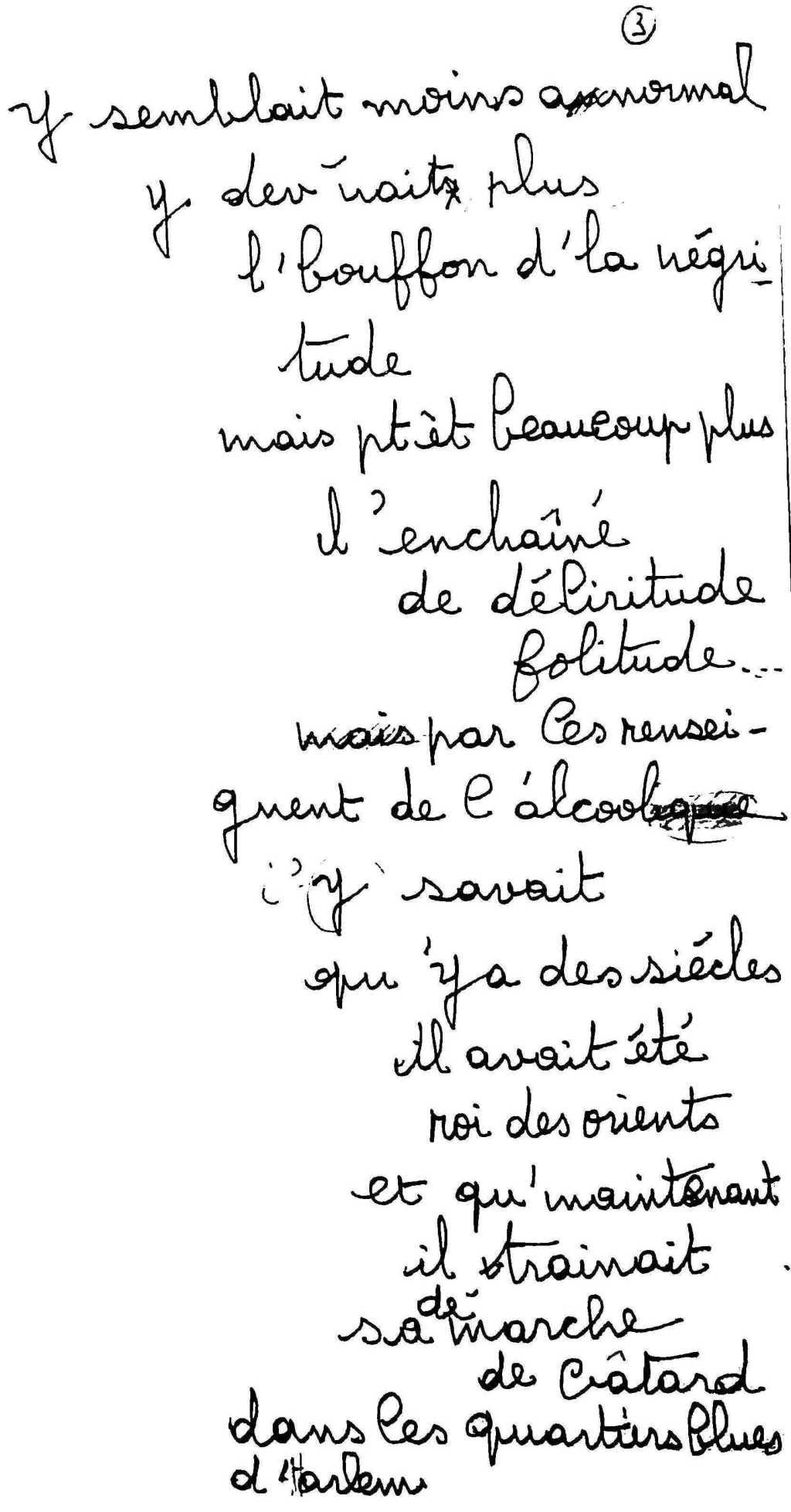 manuscrit du poème 2532