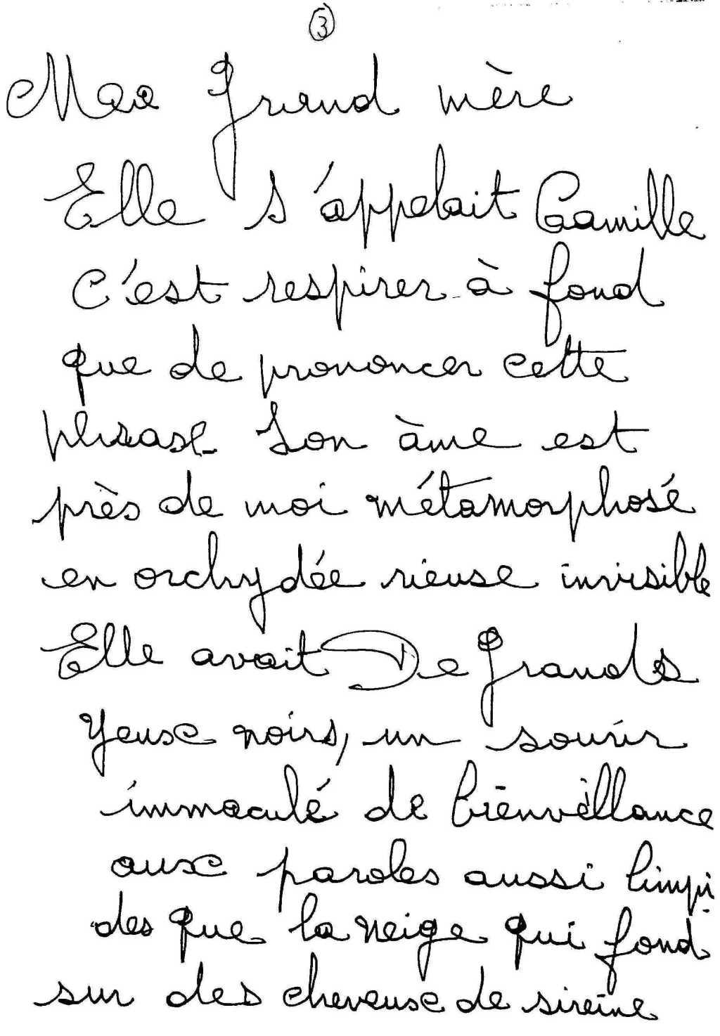 manuscrit du poème 2540