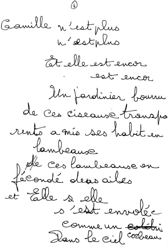 manuscrit du poème 2541