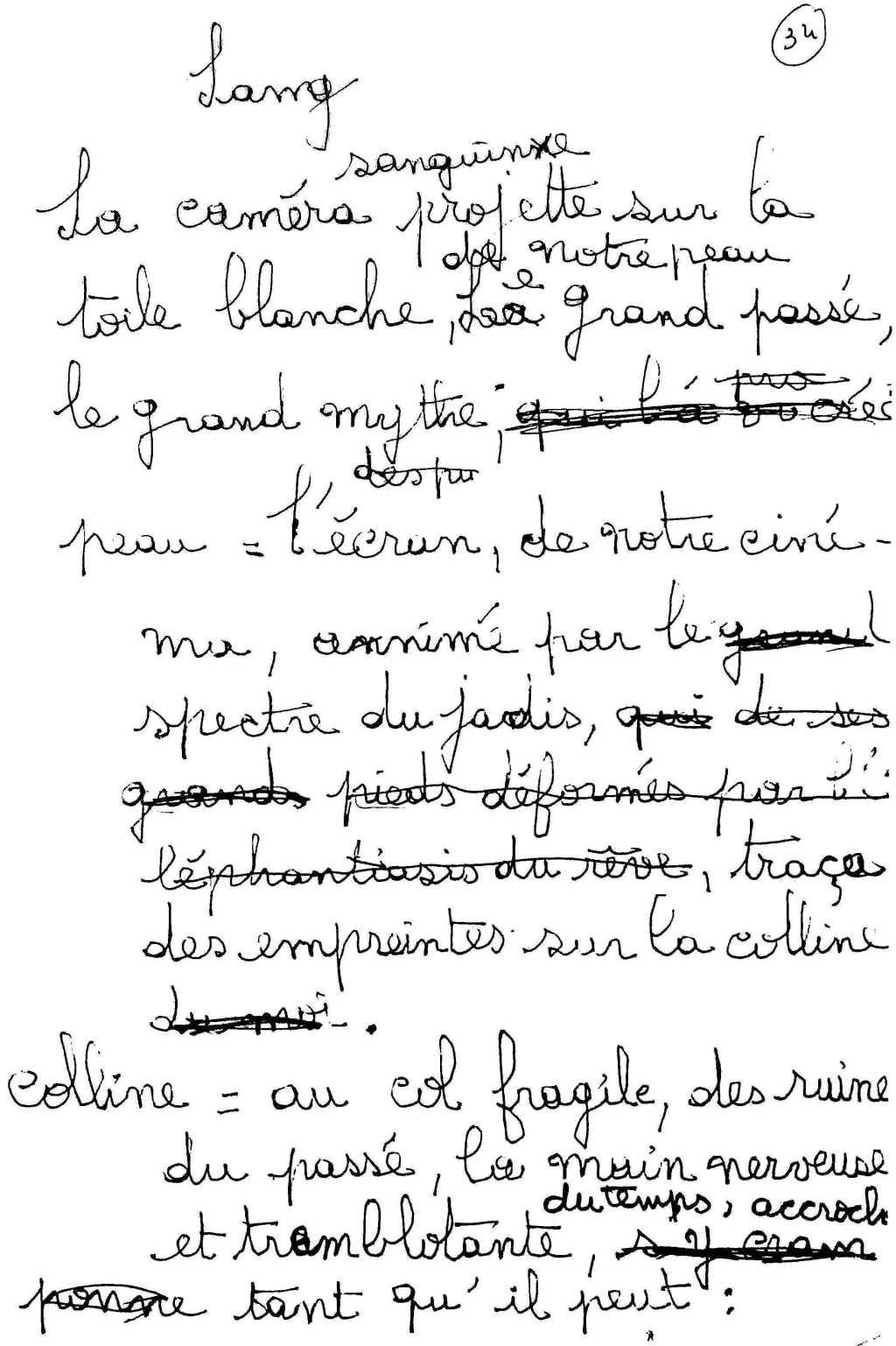 manuscrit du poème 2546