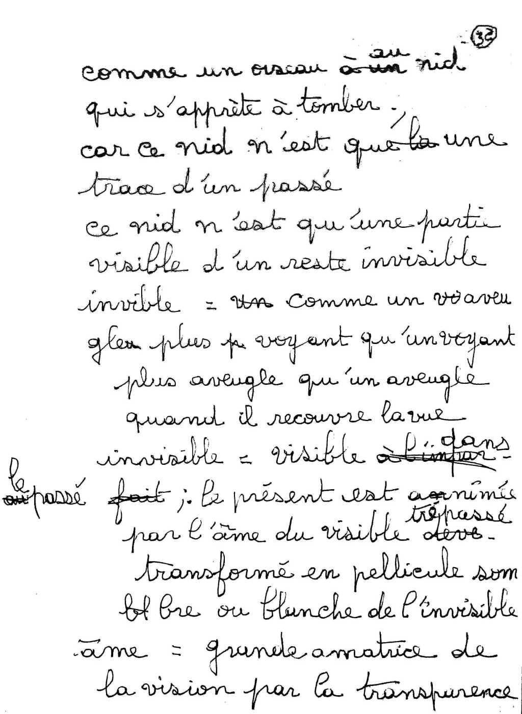 manuscrit du poème 2547