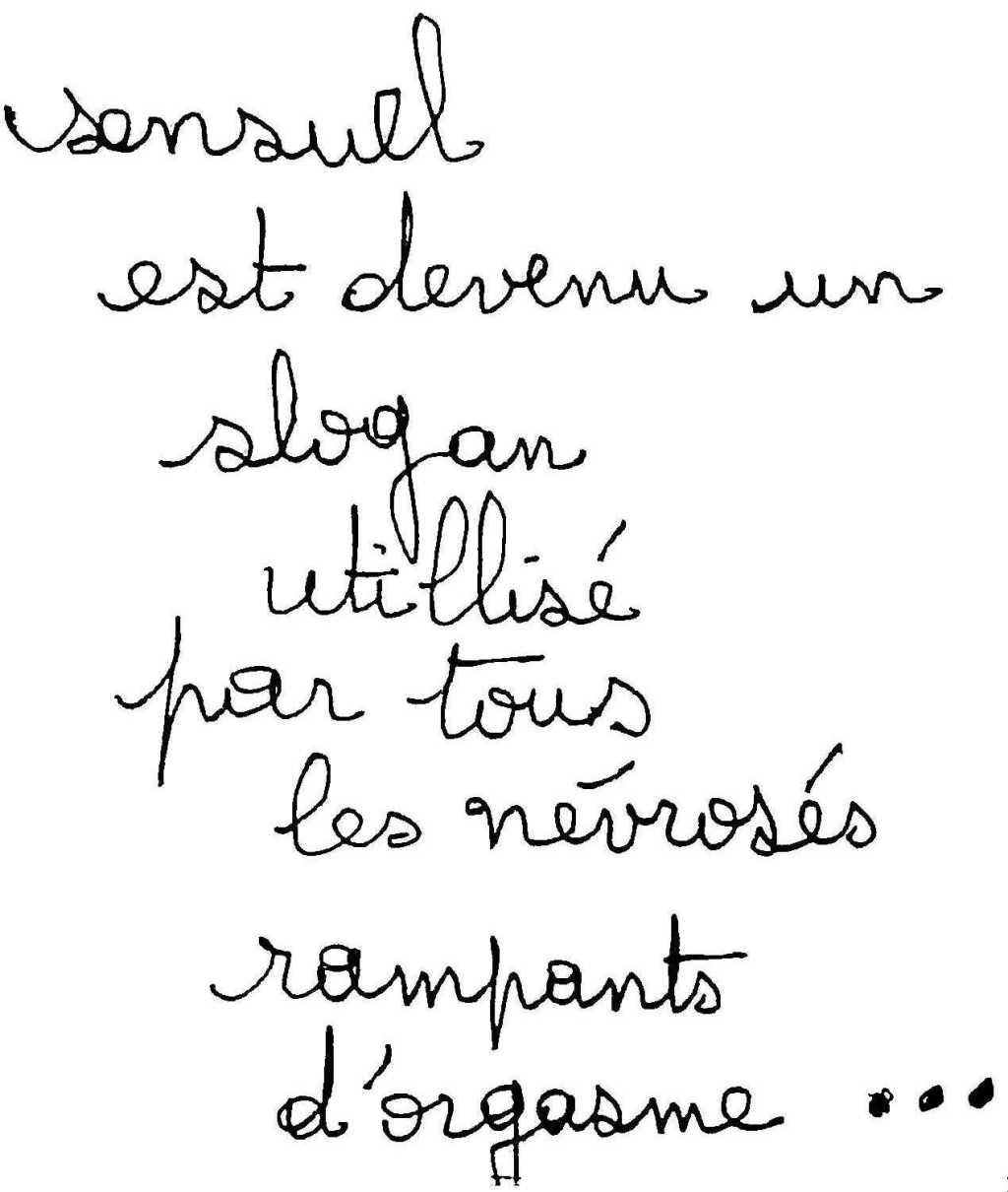 manuscrit du poème 2557