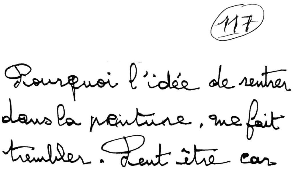 manuscrit du poème 2561