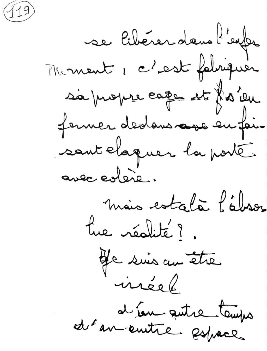 manuscrit du poème 2563