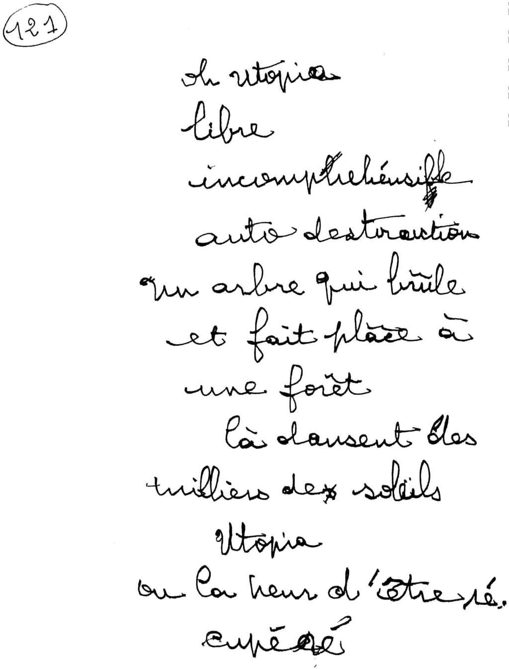 manuscrit du poème 2565