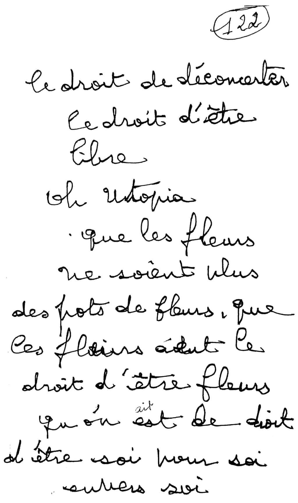 manuscrit du poème 2566