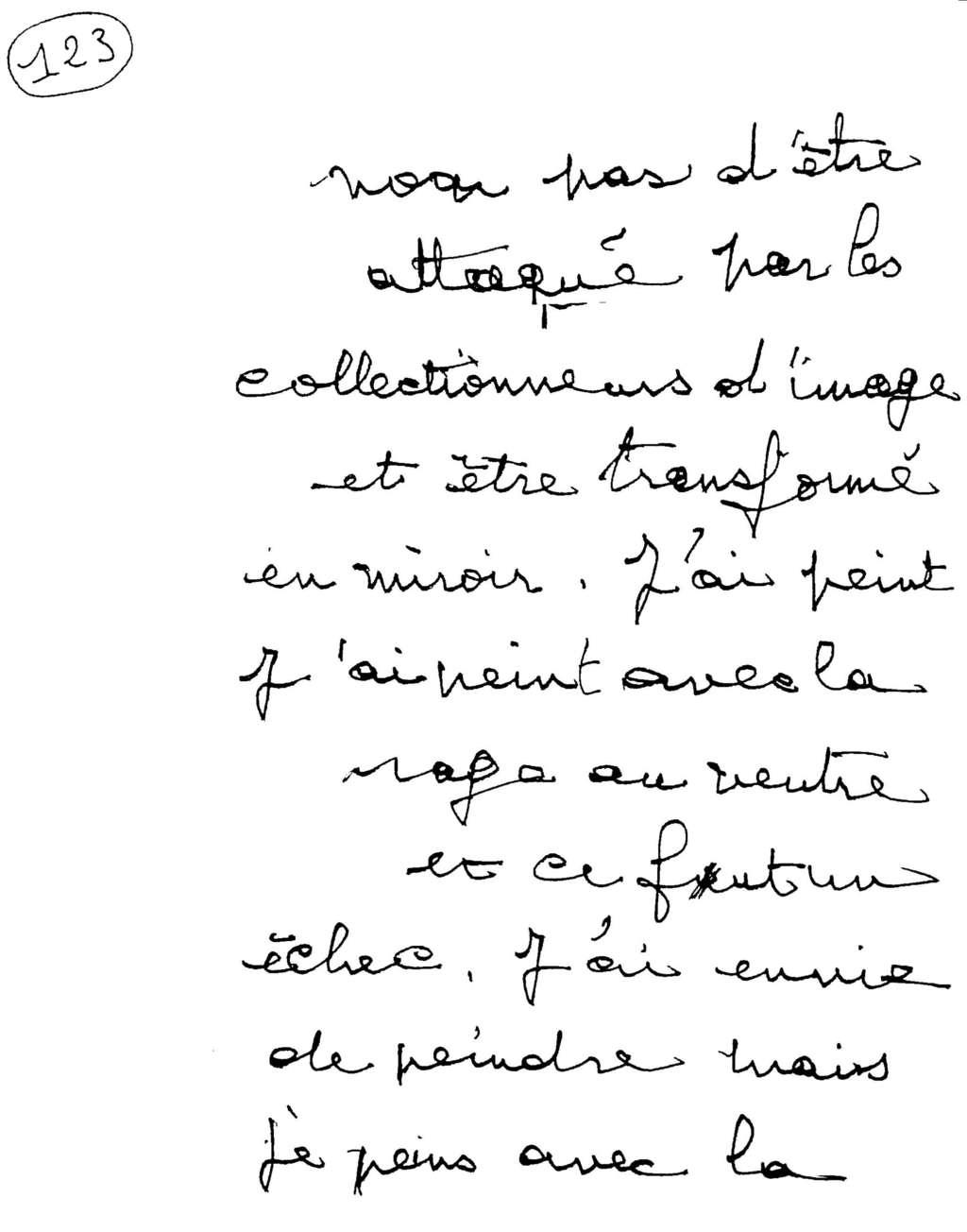 manuscrit du poème 2567
