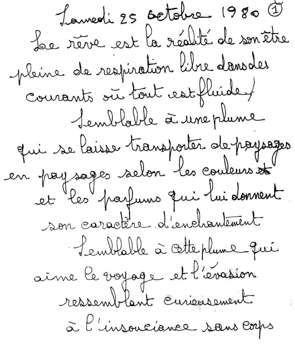 manuscrit du poème 2570