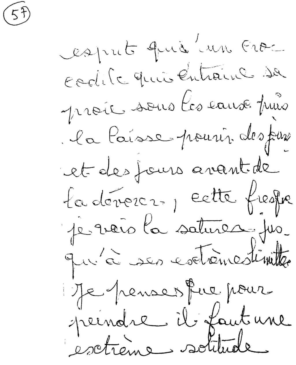 manuscrit du poème 2579