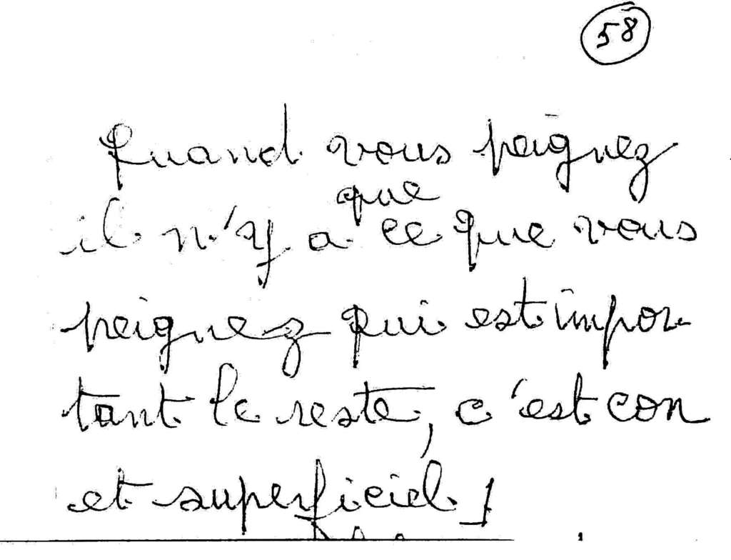manuscrit du poème 2580