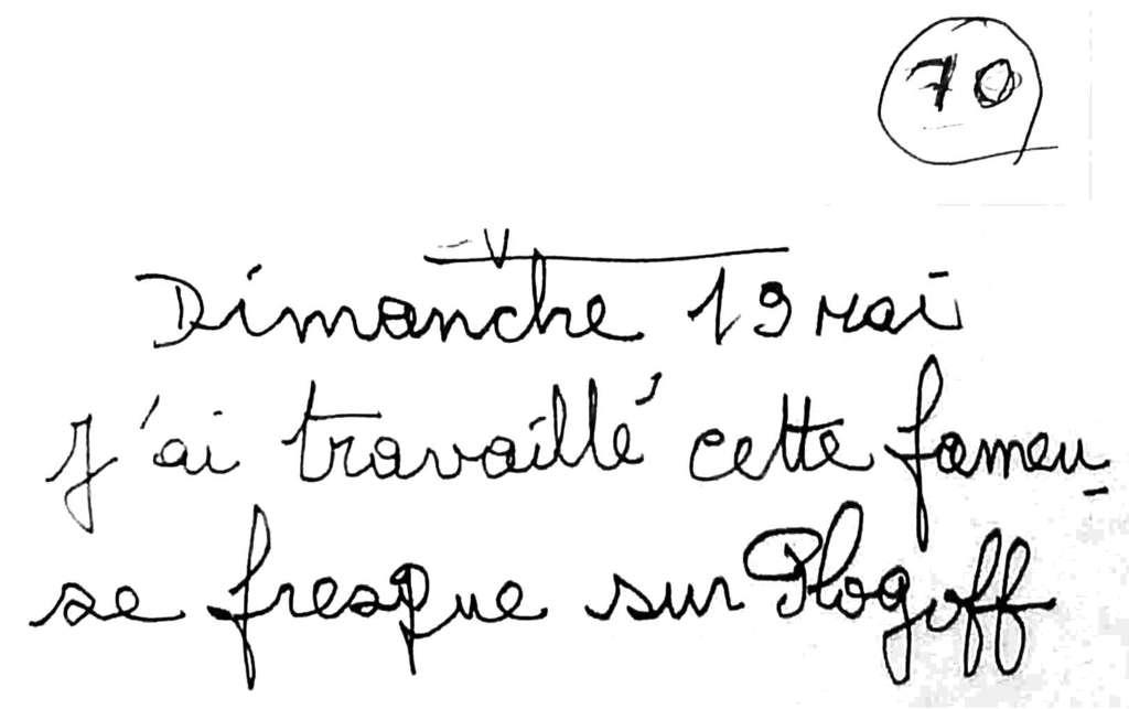 manuscrit du poème 2581
