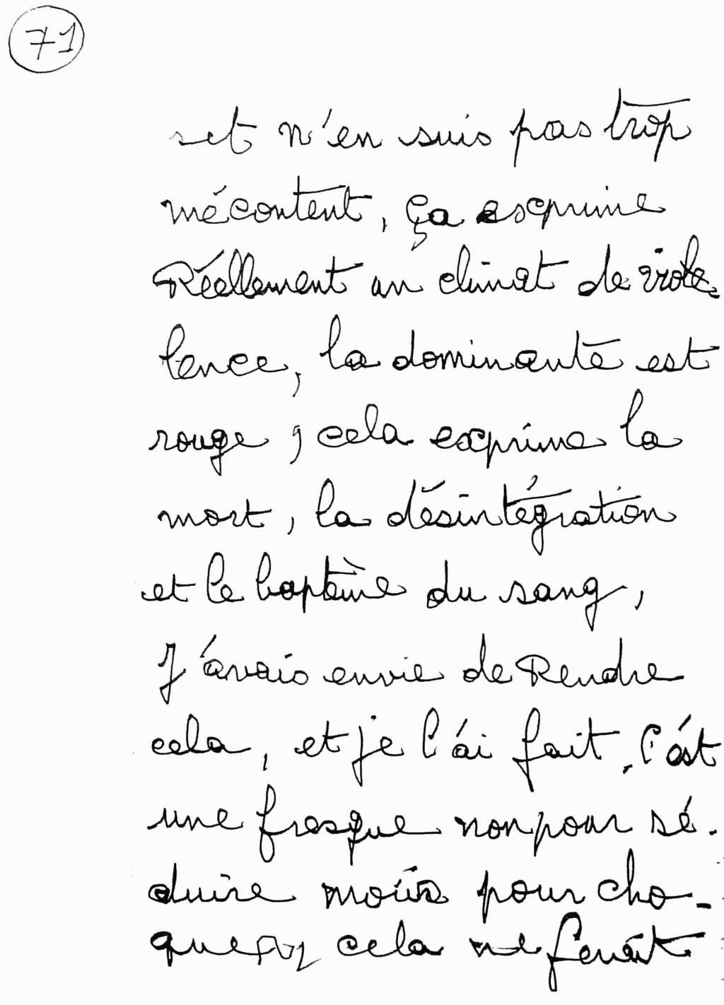 manuscrit du poème 2582