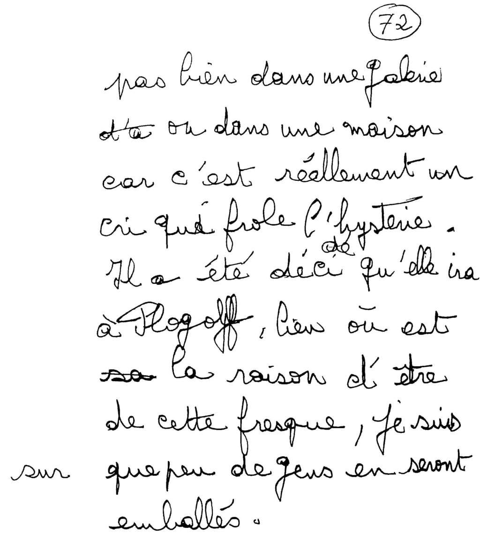 manuscrit du poème 2583