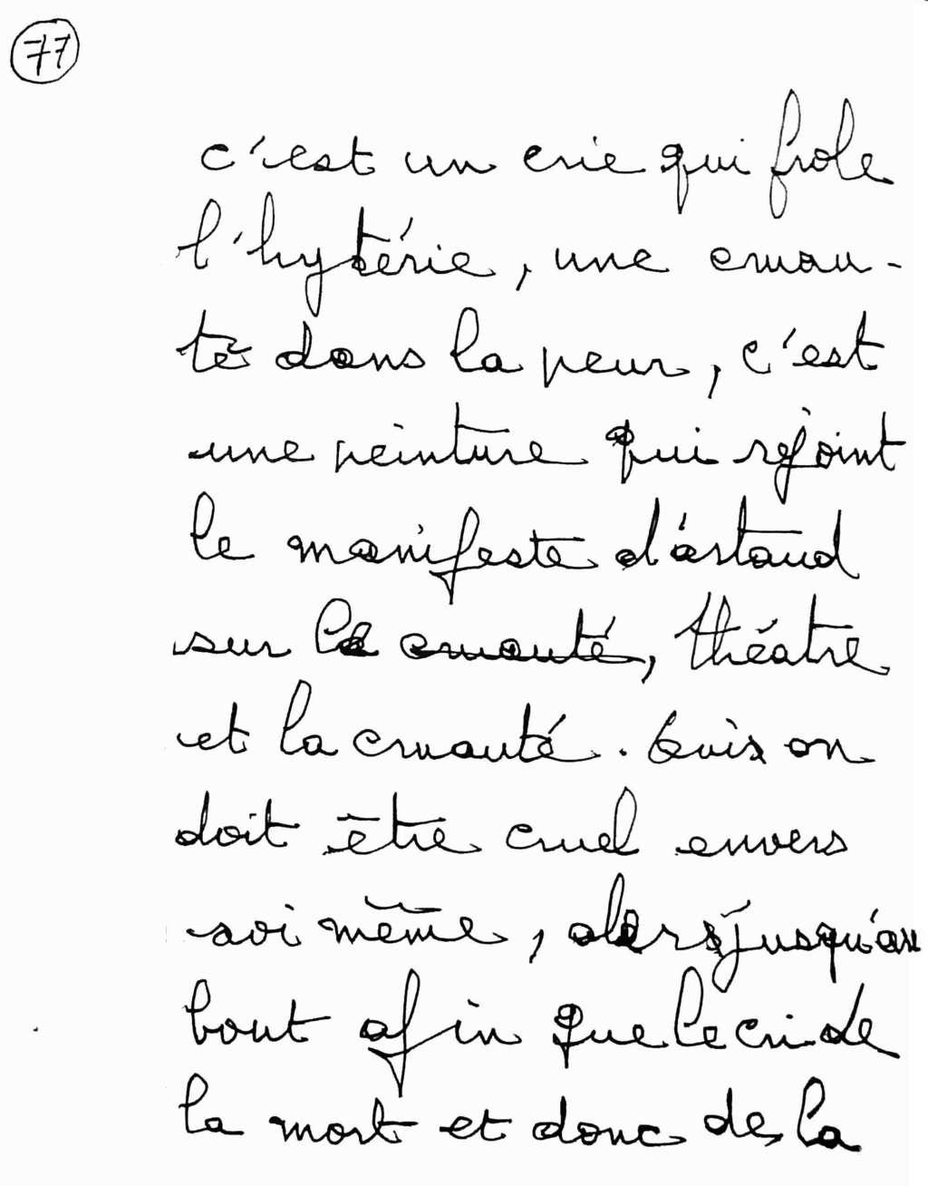 manuscrit du poème 2584