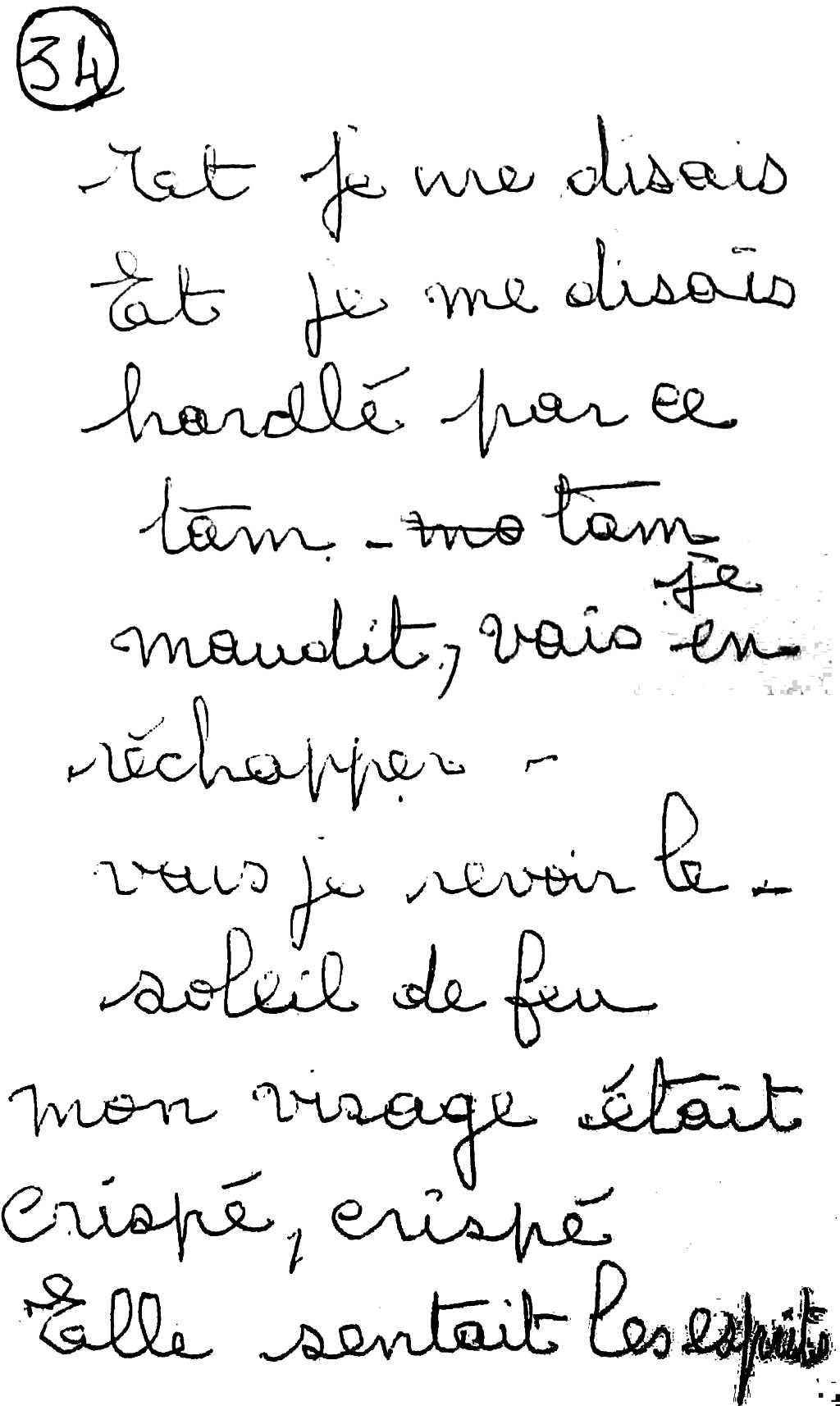 manuscrit du poème 2588