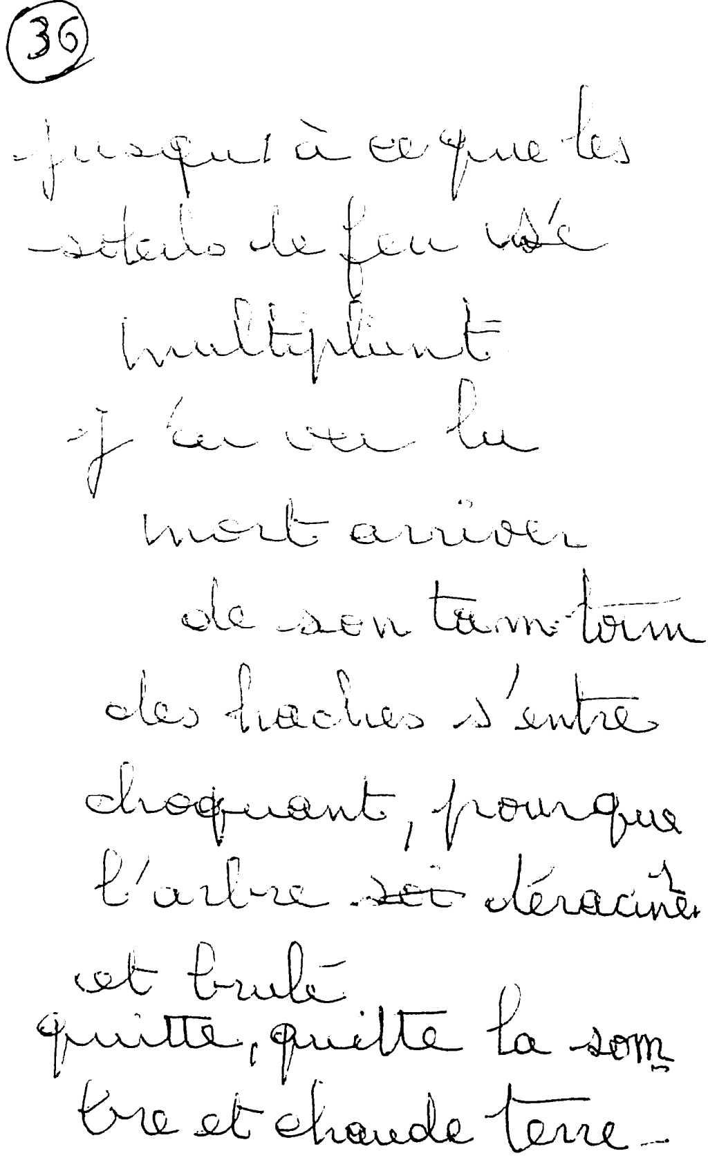 manuscrit du poème 2590