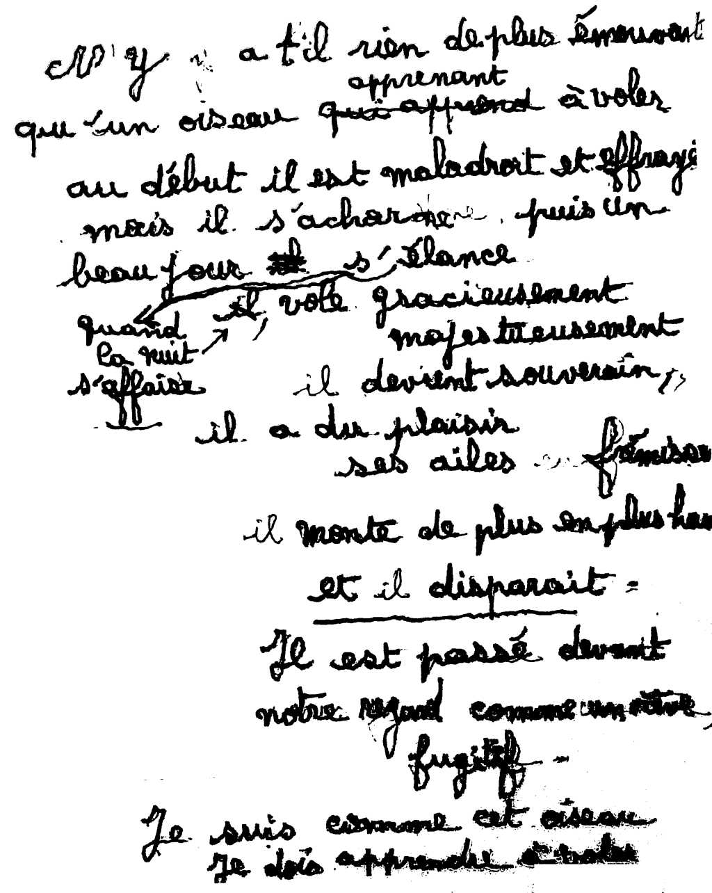 manuscrit du poème 2593