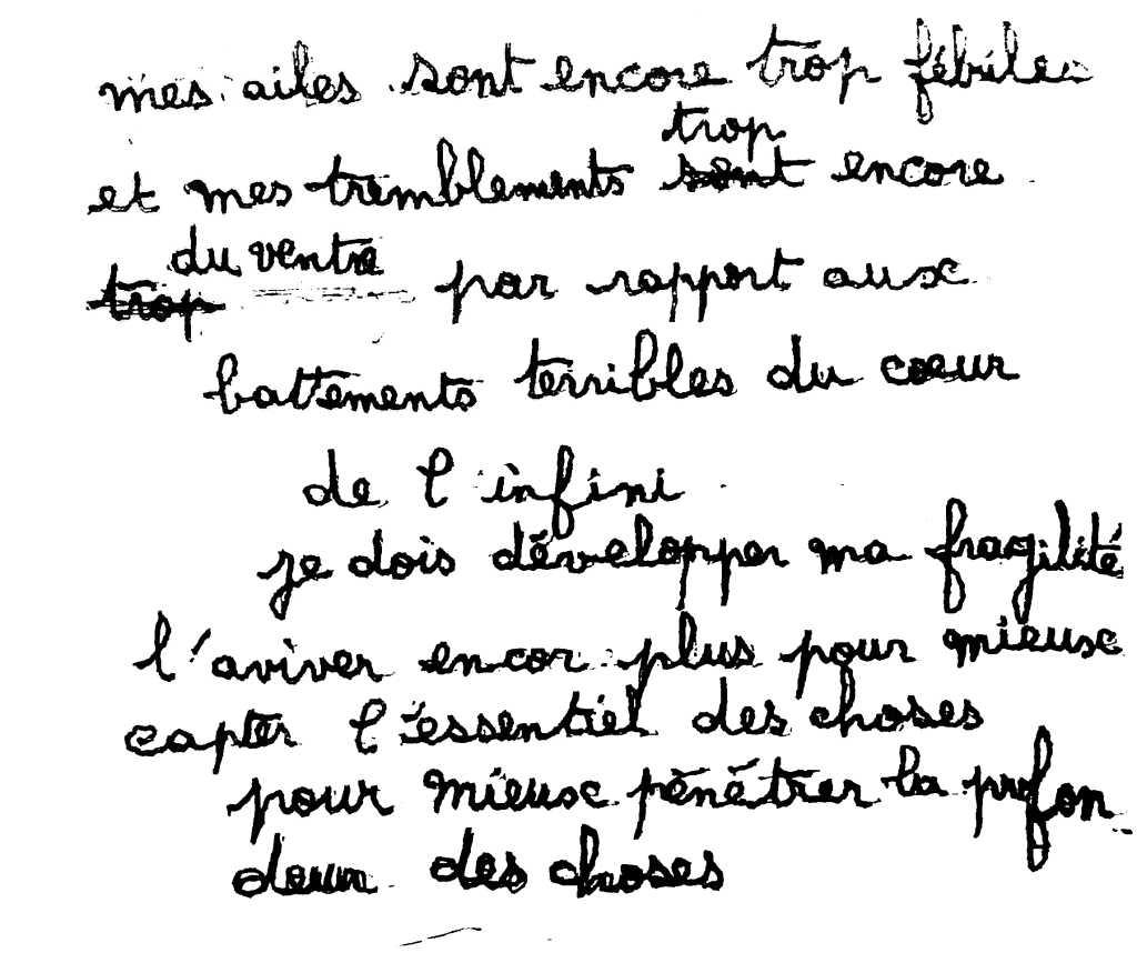 manuscrit du poème 2594