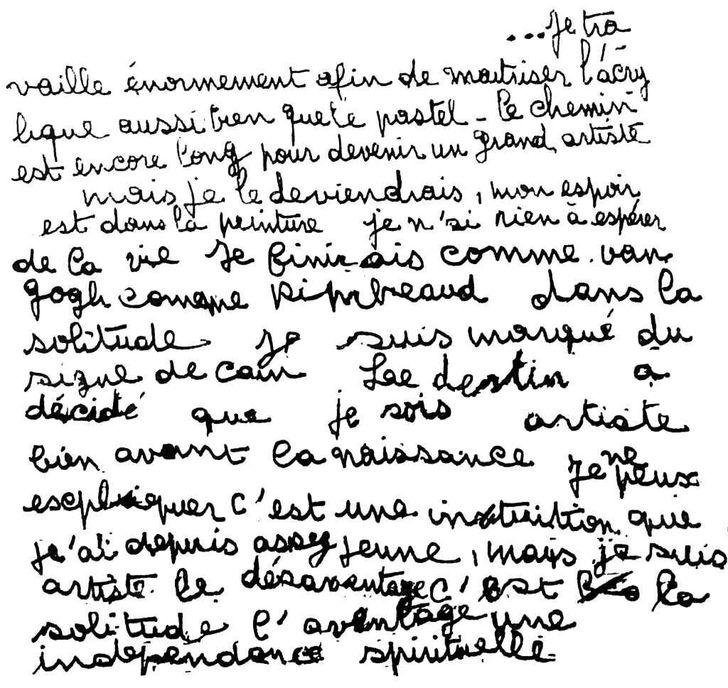 manuscrit du poème 2752