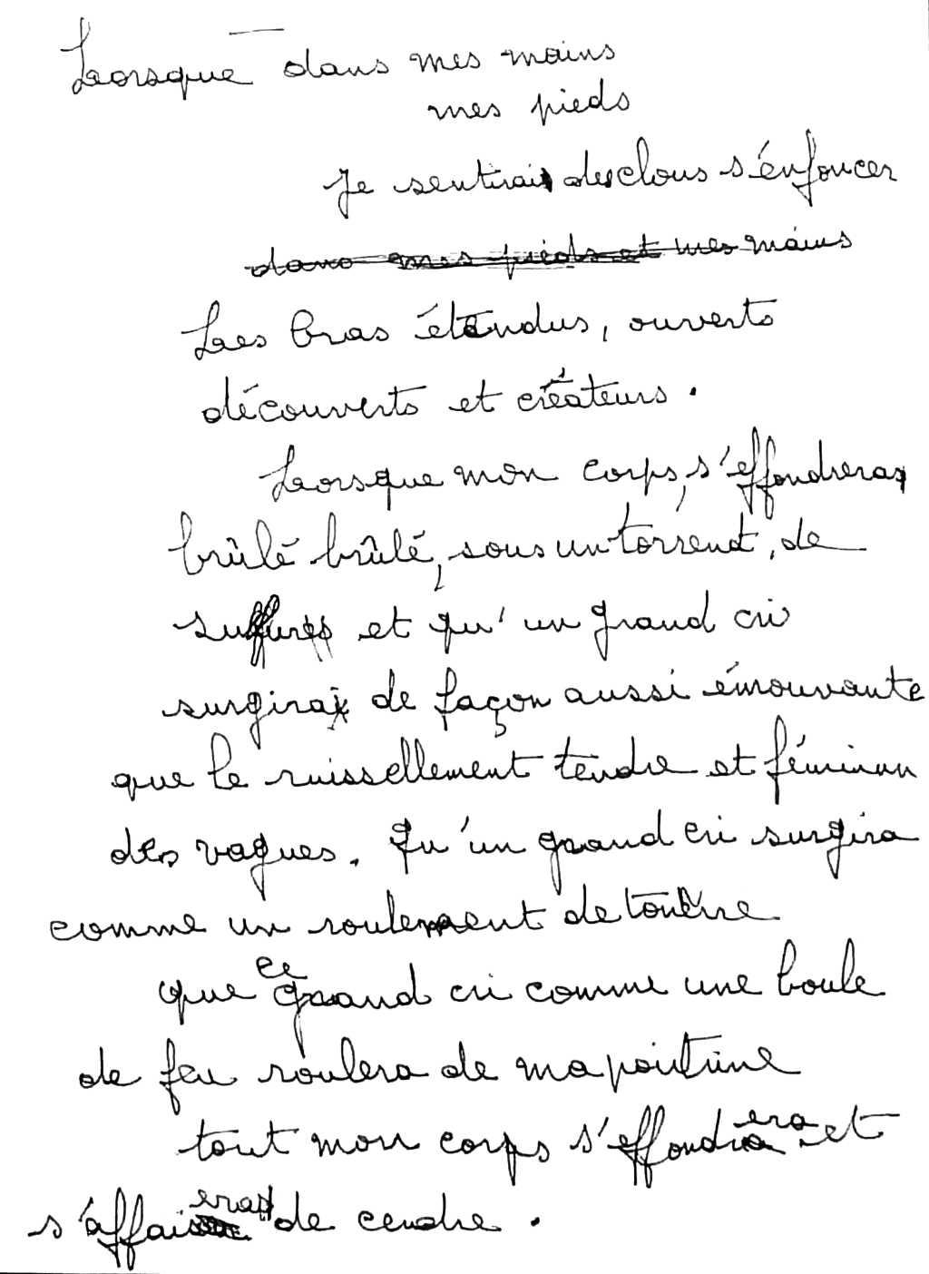 manuscrit du poème 2753