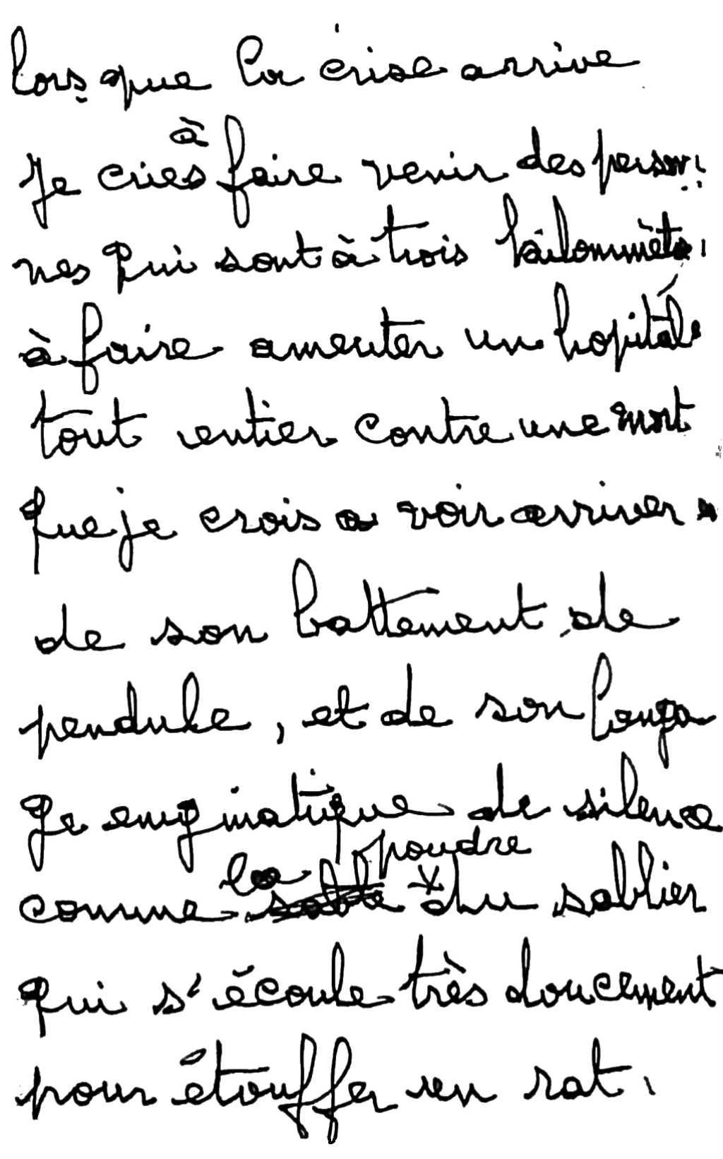manuscrit du poème 2754