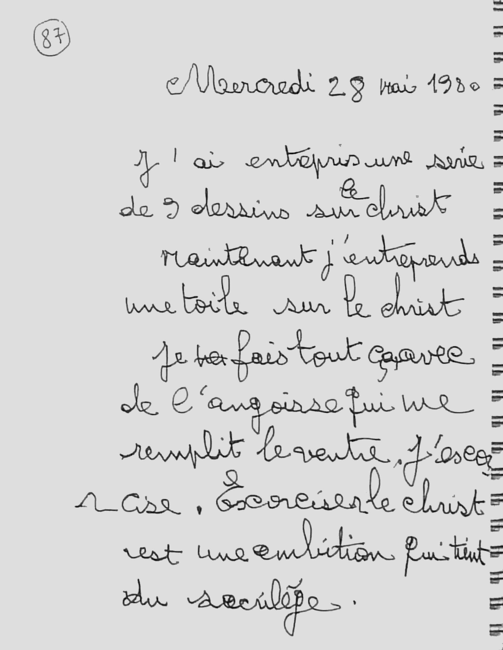 manuscrit du poème 2758