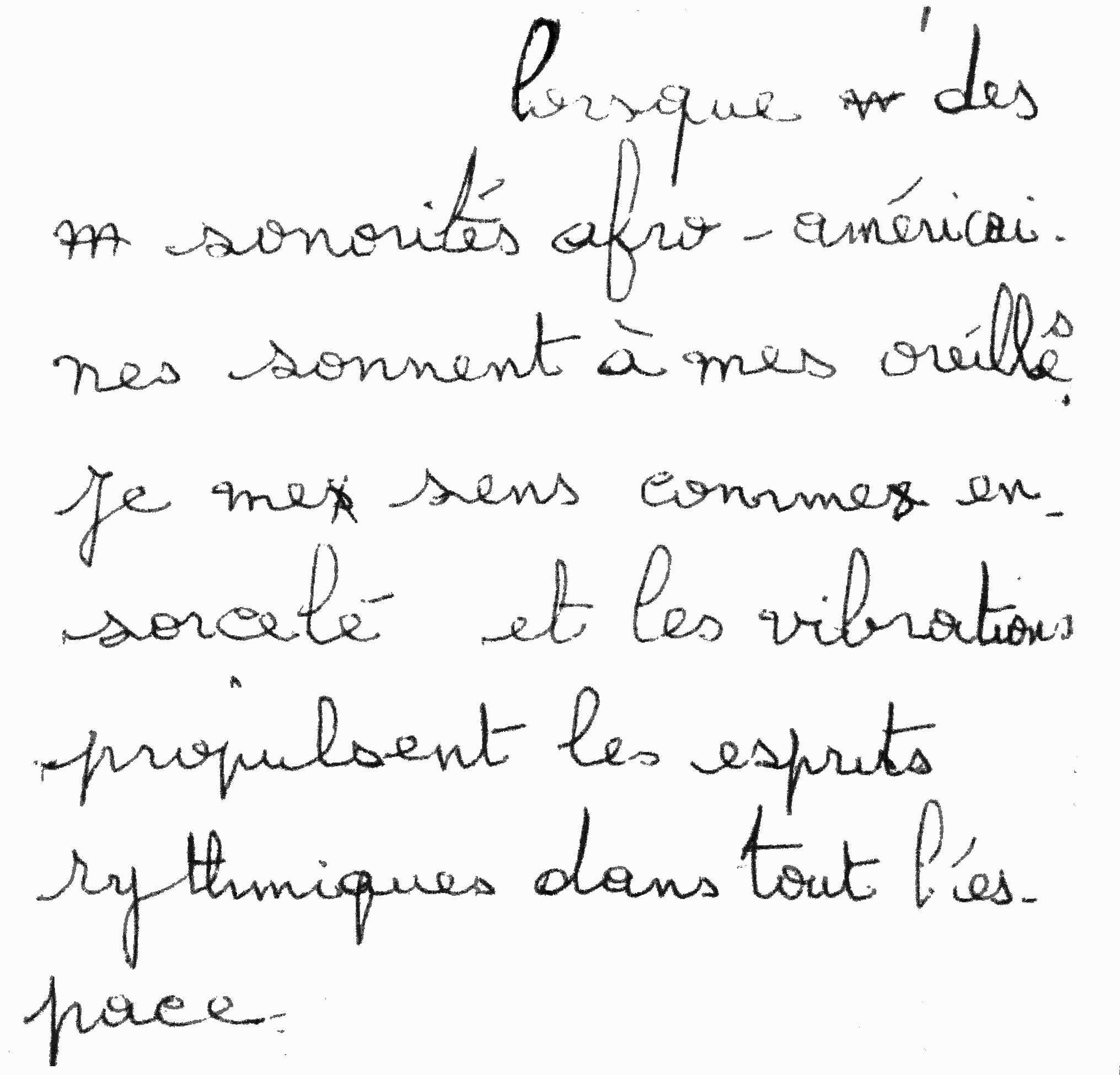 manuscrit du poème 2840
