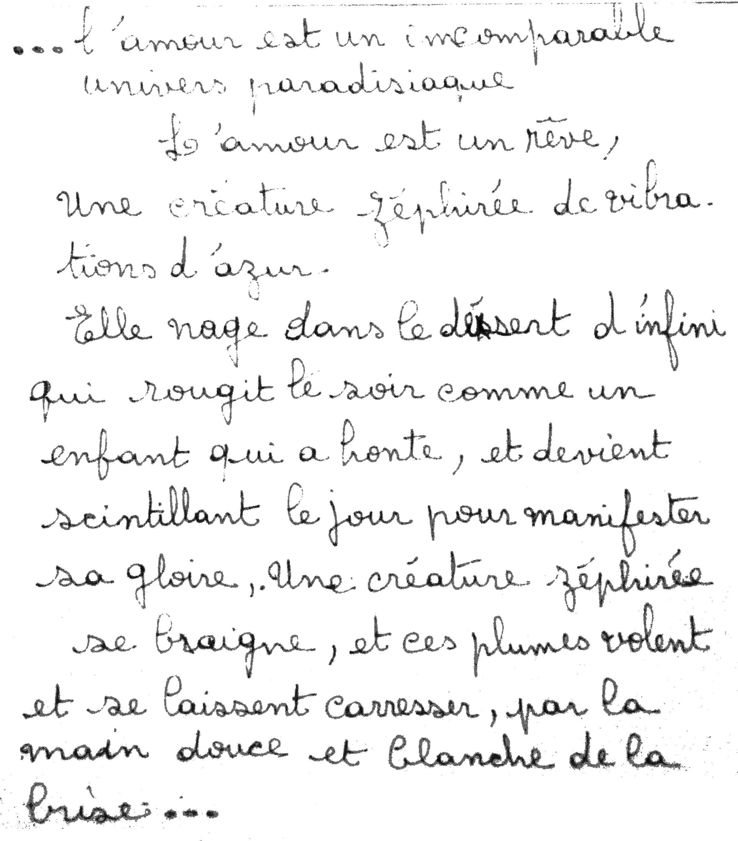 manuscrit du poème 2842