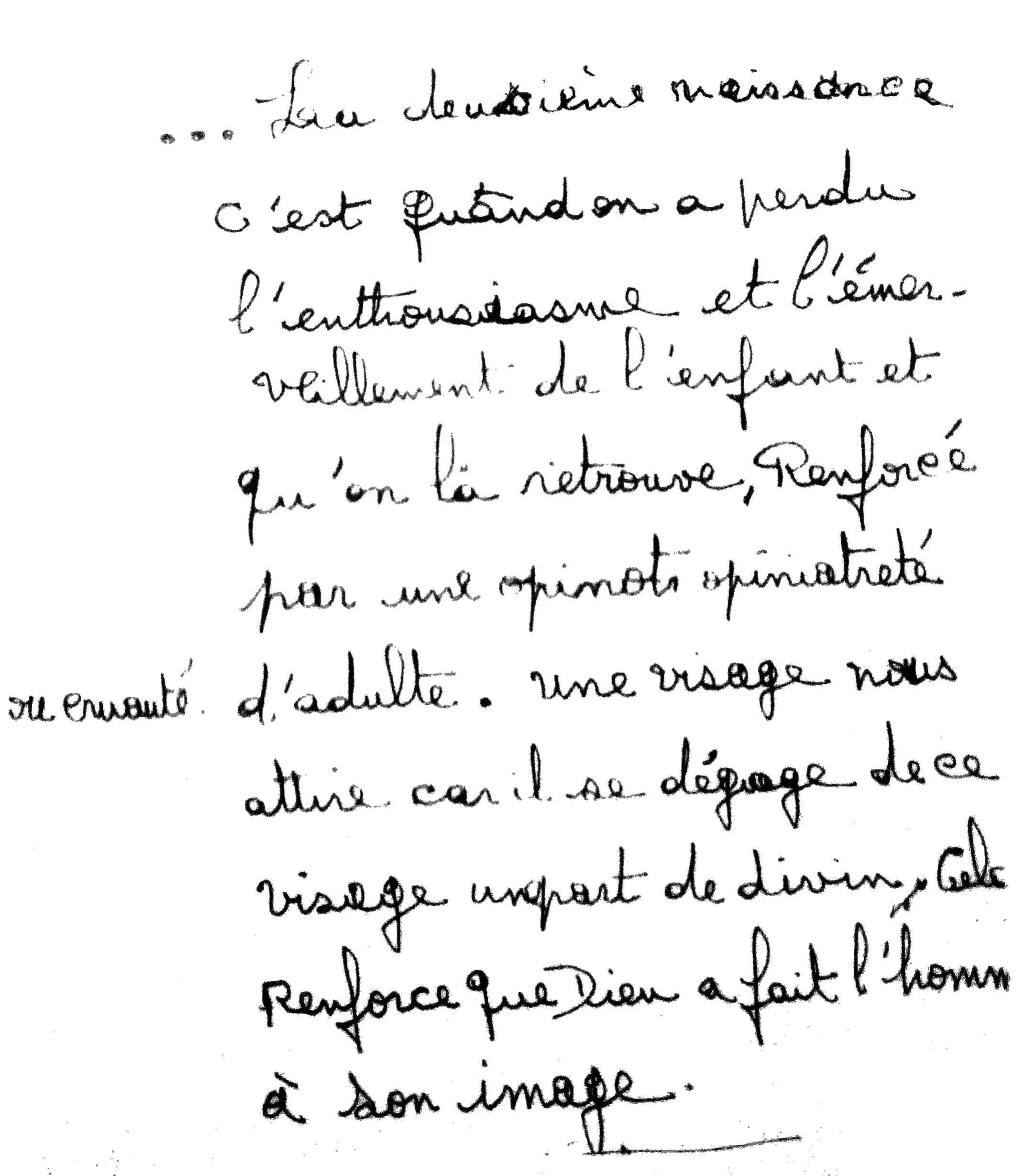 manuscrit du poème 2843