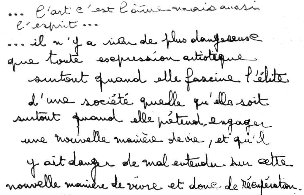 manuscrit du poème 2847