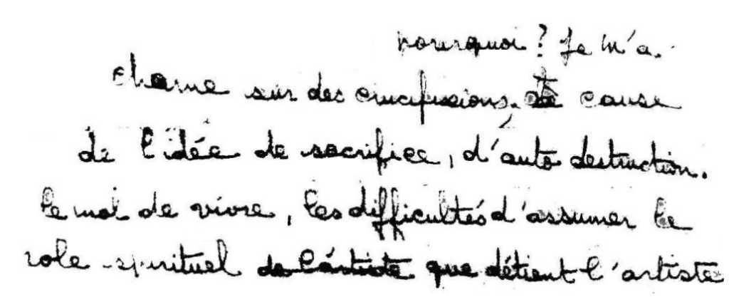 manuscrit du poème 2849