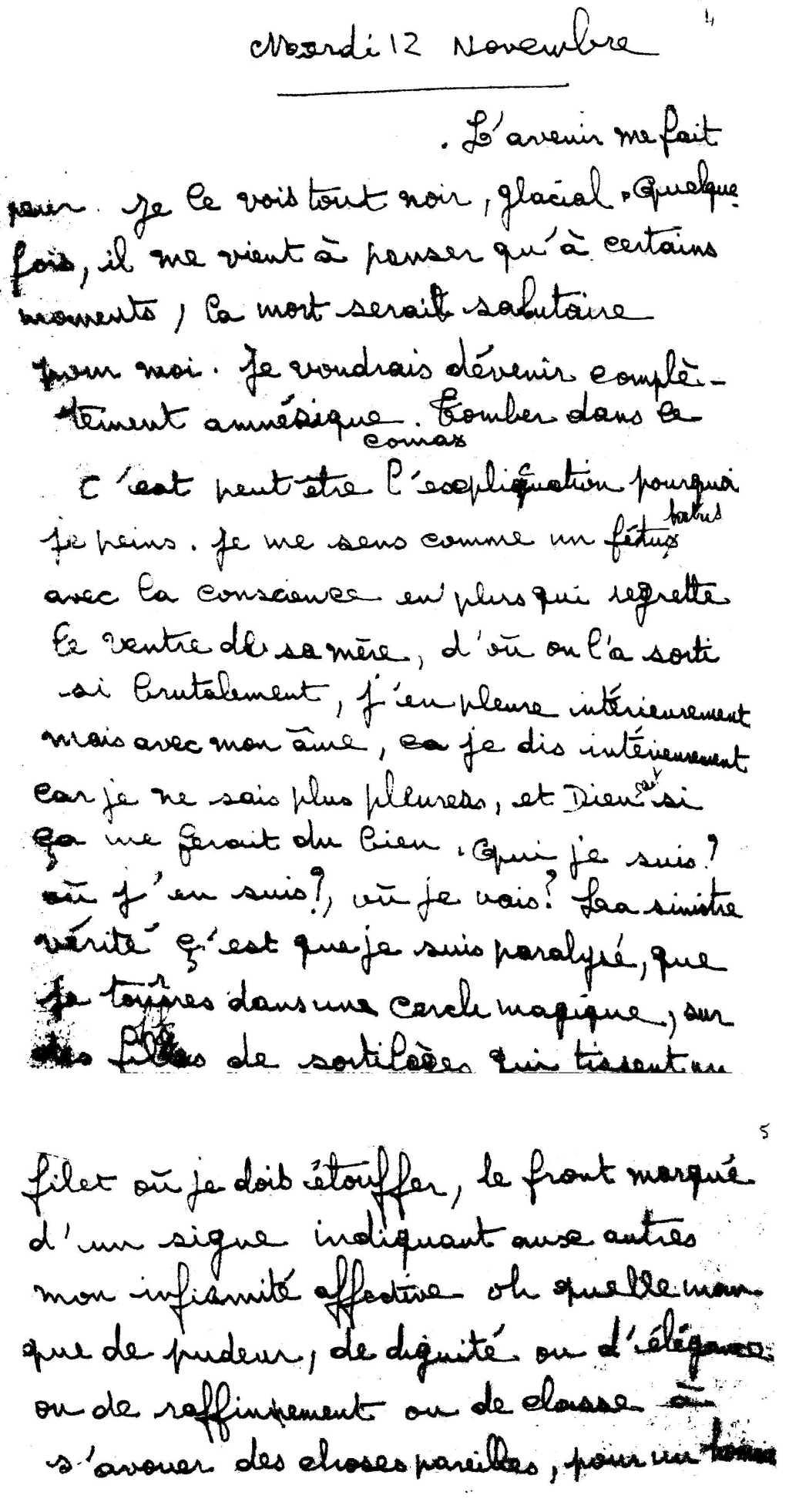 manuscrit du poème 2851