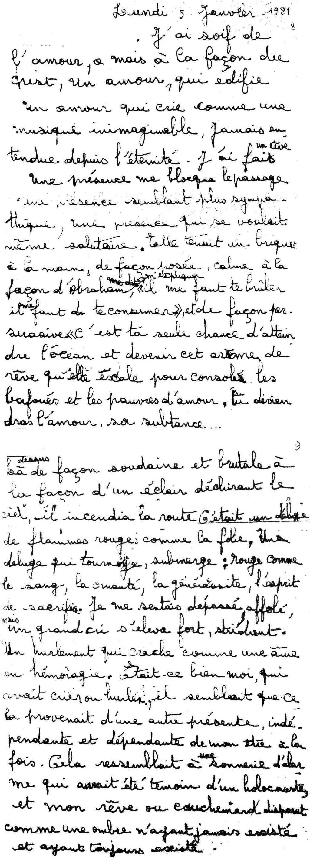 manuscrit du poème 2853