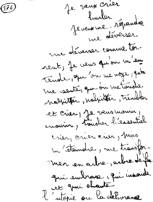 manuscrit du poème 2866