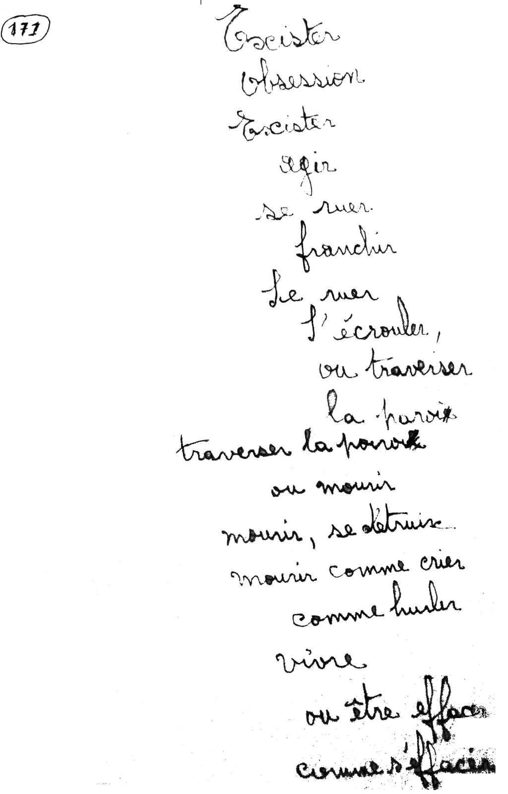 manuscrit du poème 2867