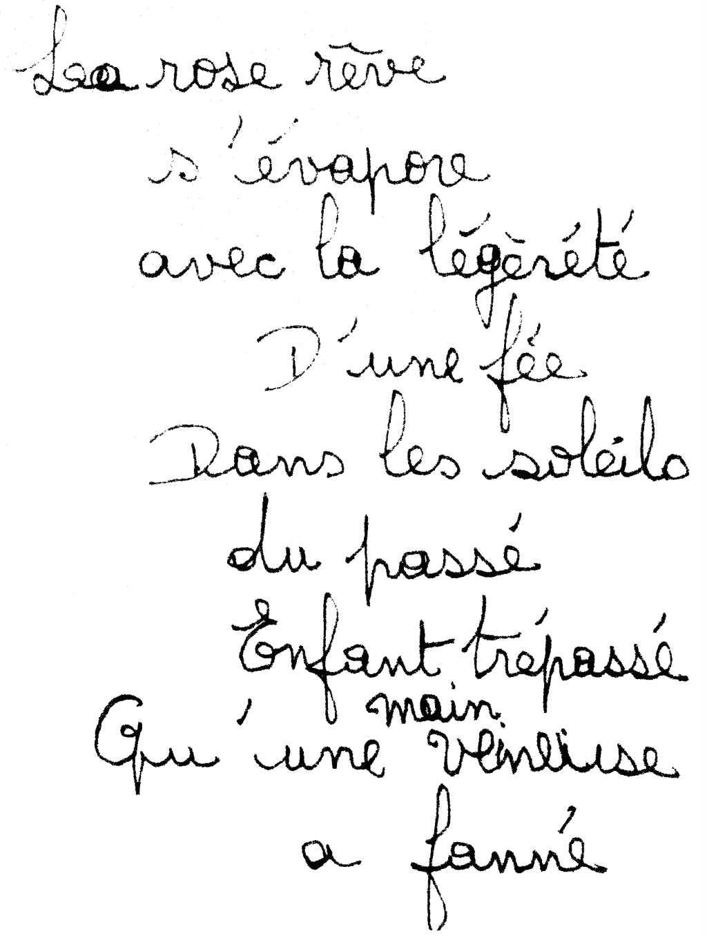 manuscrit du poème 2917