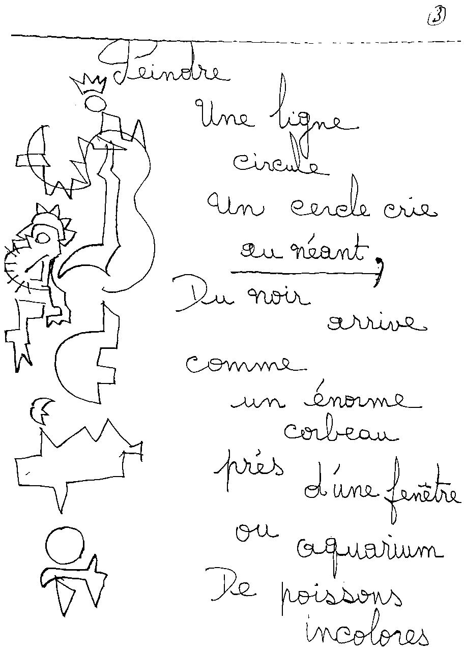 manuscrit du poème 2407