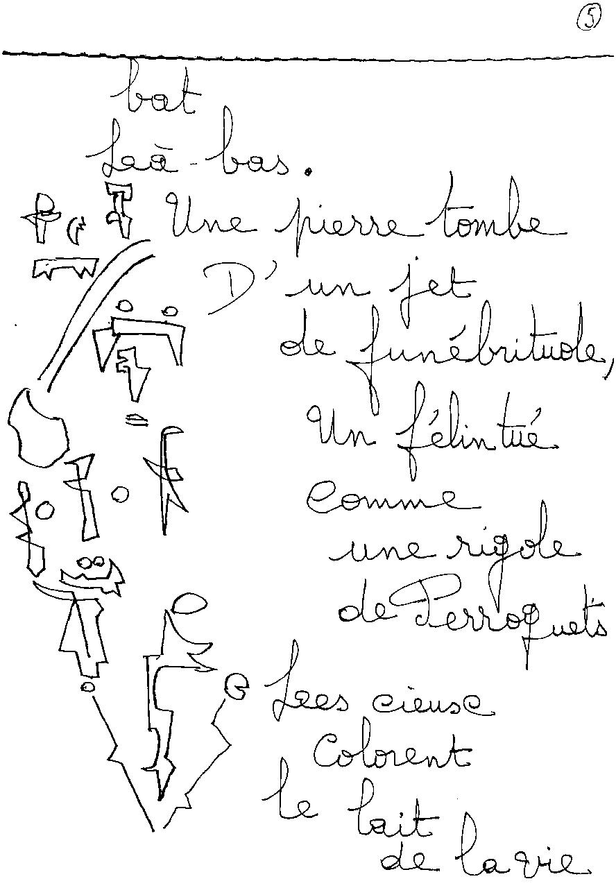 manuscrit du poème 2409