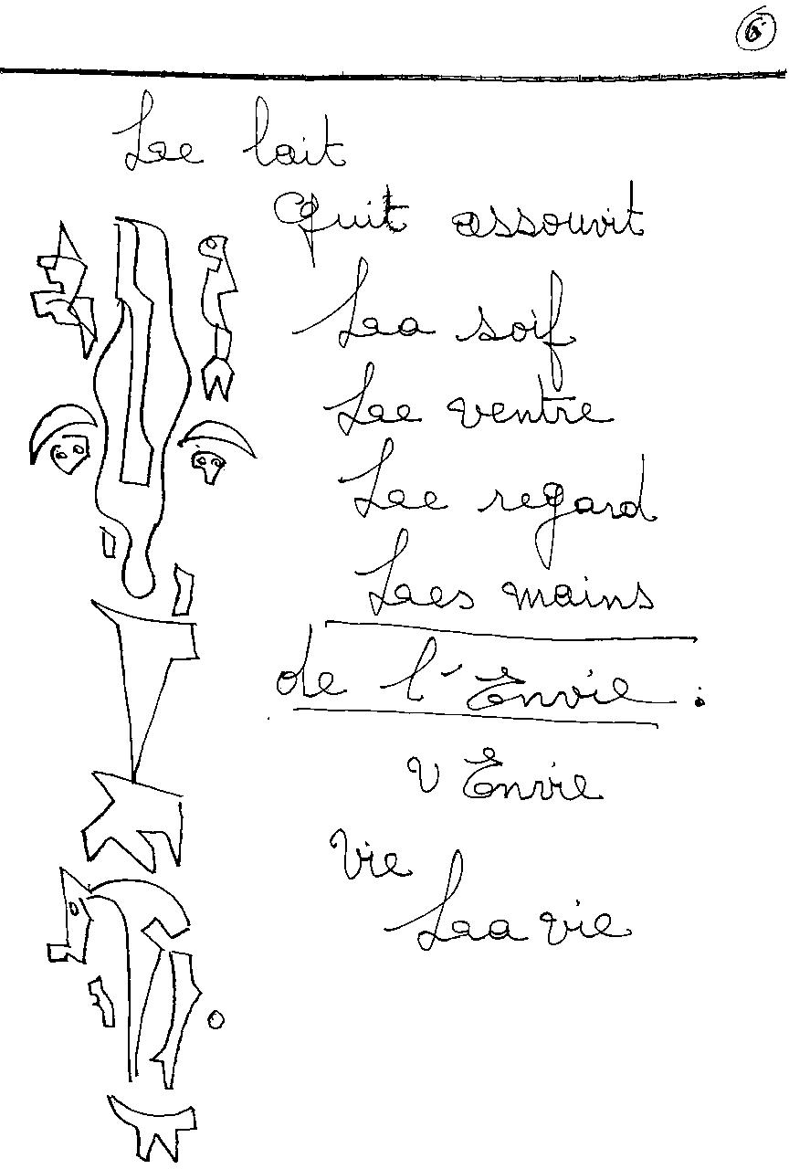 manuscrit du poème 2410