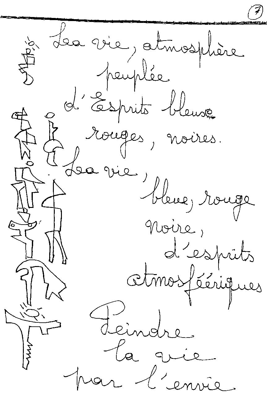 manuscrit du poème 2411