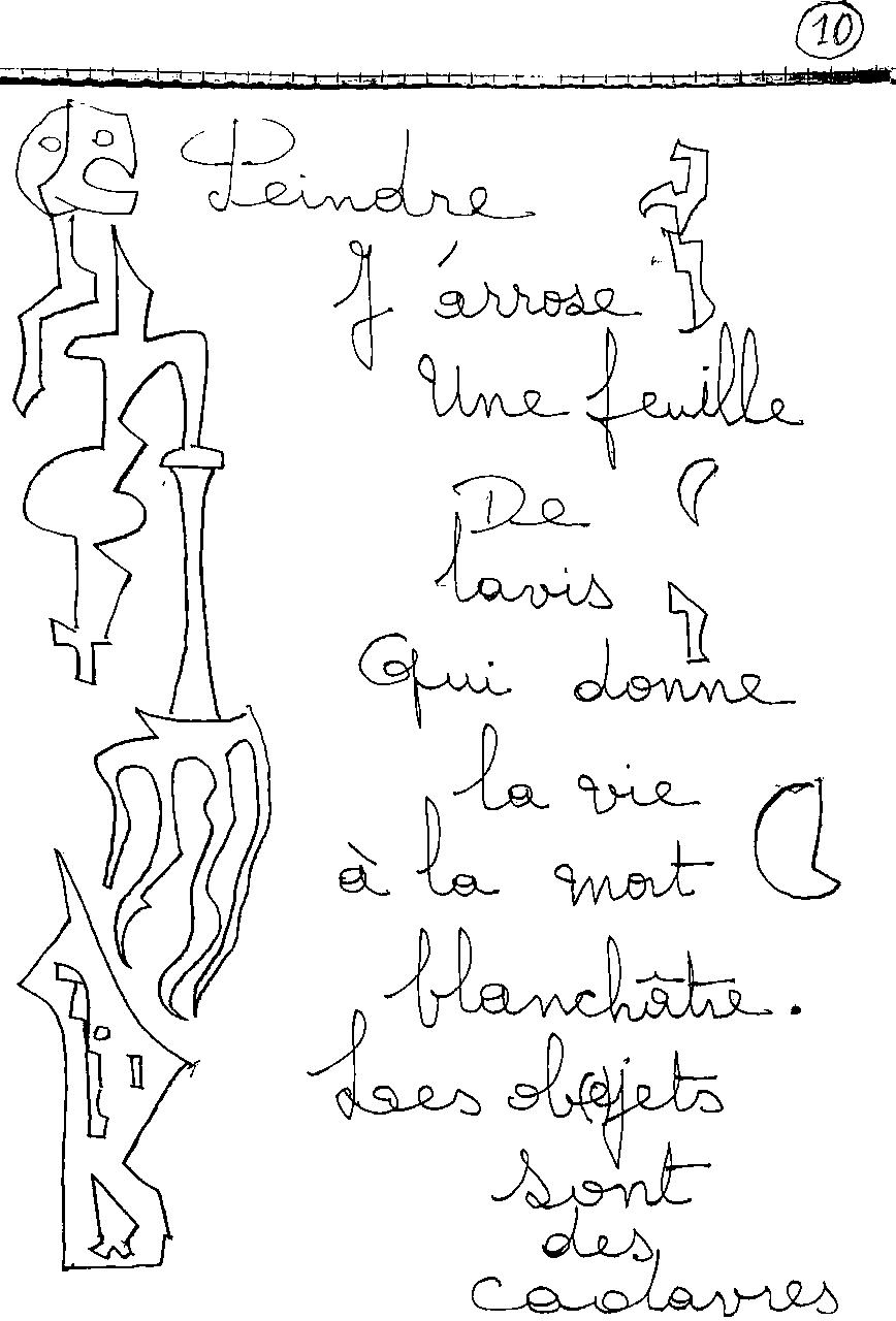 manuscrit du poème 2415